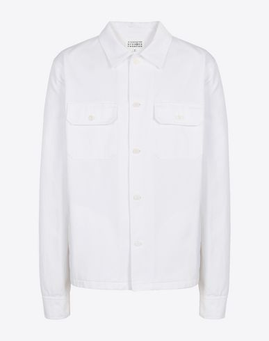 MAISON MARGIELA Long sleeve shirt Man Cotton gabardine shirt f