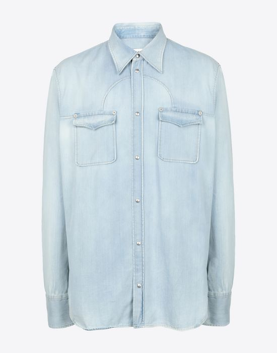 MAISON MARGIELA Bleached denim shirt Denim shirt [*** pickupInStoreShippingNotGuaranteed_info ***] f