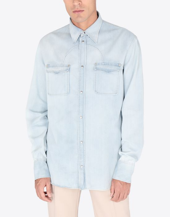 MAISON MARGIELA Bleached denim shirt Denim shirt [*** pickupInStoreShippingNotGuaranteed_info ***] r