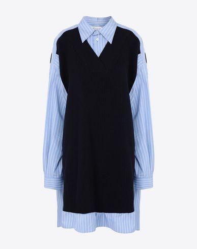 MAISON MARGIELA Langarmhemd [*** pickupInStoreShipping_info ***] Zweifarbiges Oversized-Hemd f