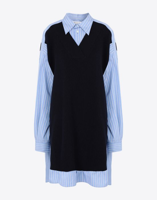 MAISON MARGIELA Oversized bicolour shirt Long sleeve shirt [*** pickupInStoreShipping_info ***] f
