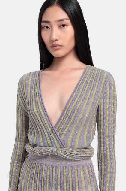 MISSONI Blouse Lilac Woman - Back
