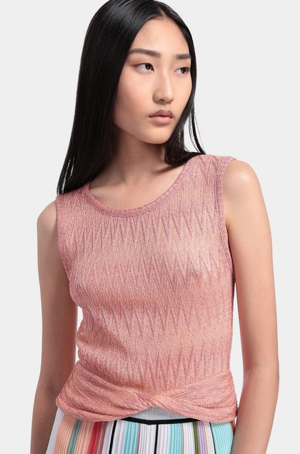 MISSONI Top Salmon pink Woman - Back