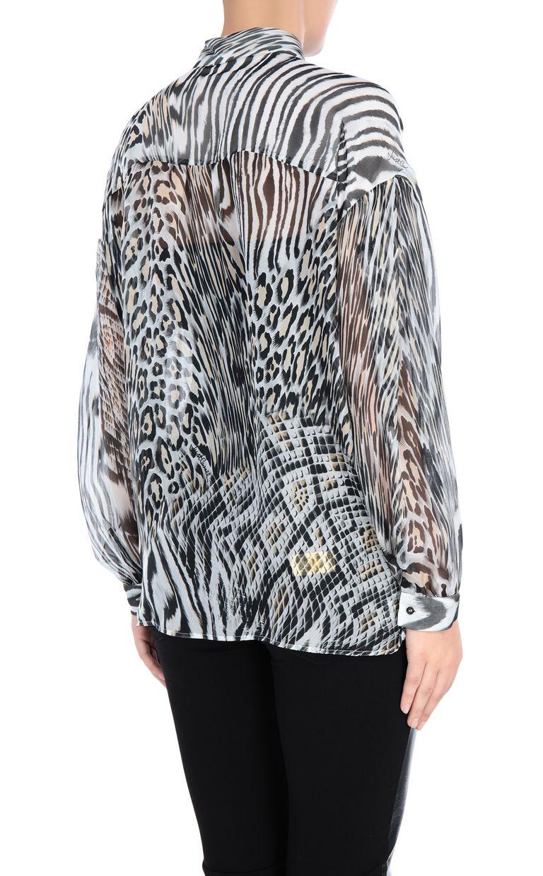 JUST CAVALLI Oversized silk shirt Long sleeve shirt Woman d