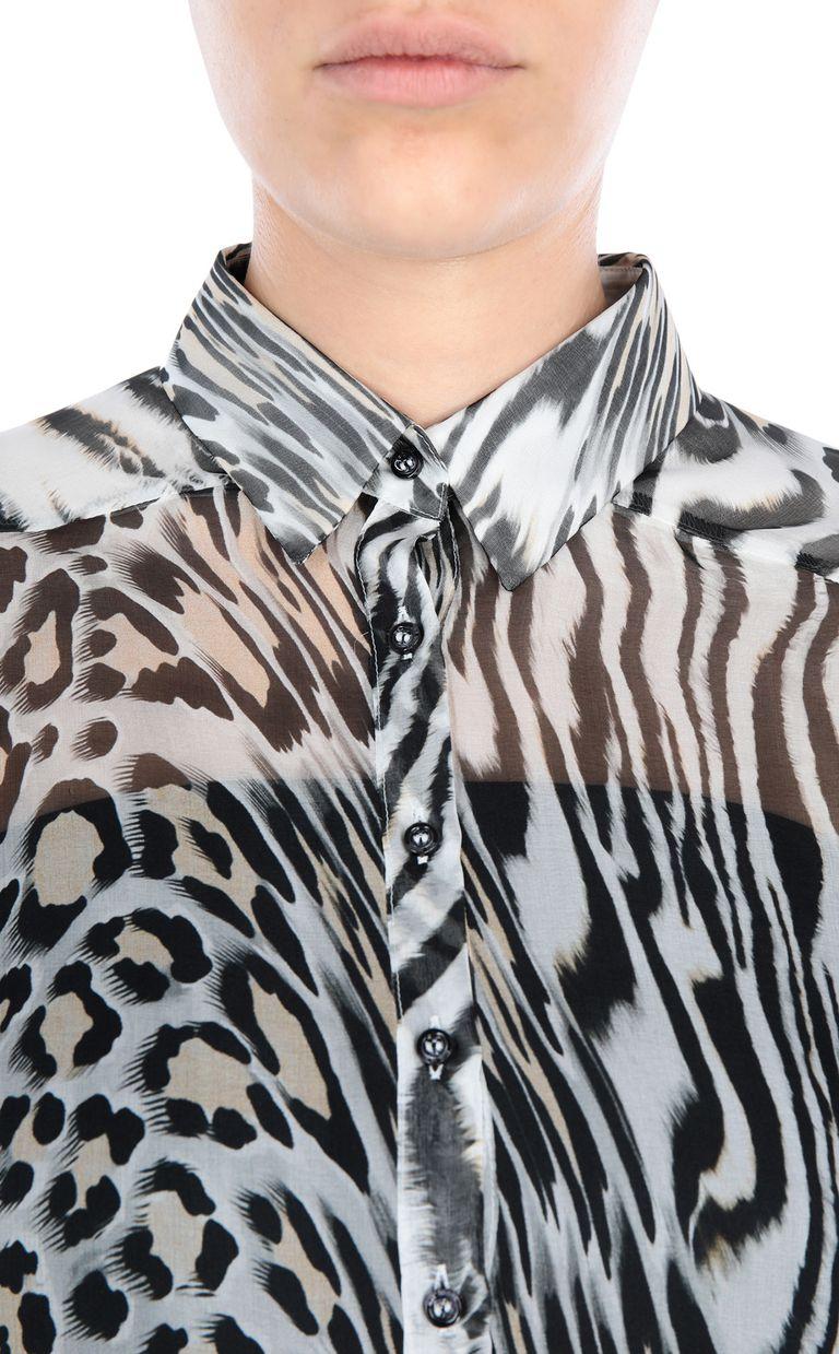 JUST CAVALLI Oversized silk shirt Long sleeve shirt Woman e