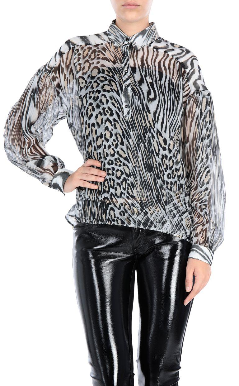 JUST CAVALLI Oversized silk shirt Long sleeve shirt Woman f