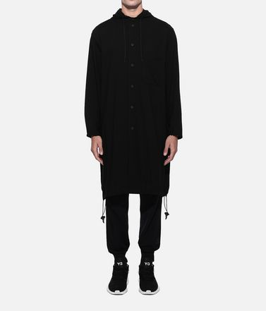 Y-3 Langarmhemd Herren Y-3 Hooded Long Shirt r