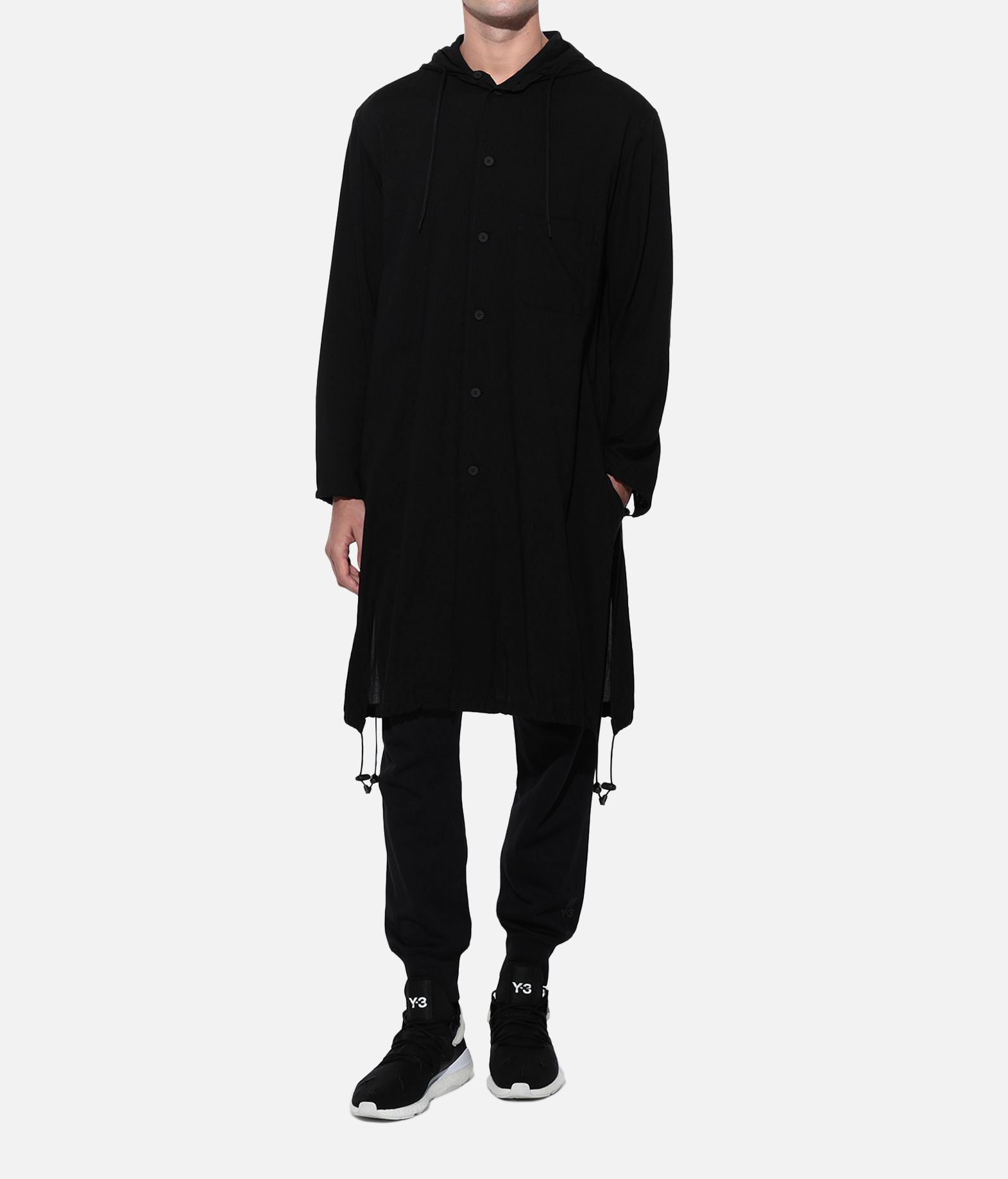 Y-3 Y-3 Hooded Long Shirt Camicia maniche lunghe Uomo a