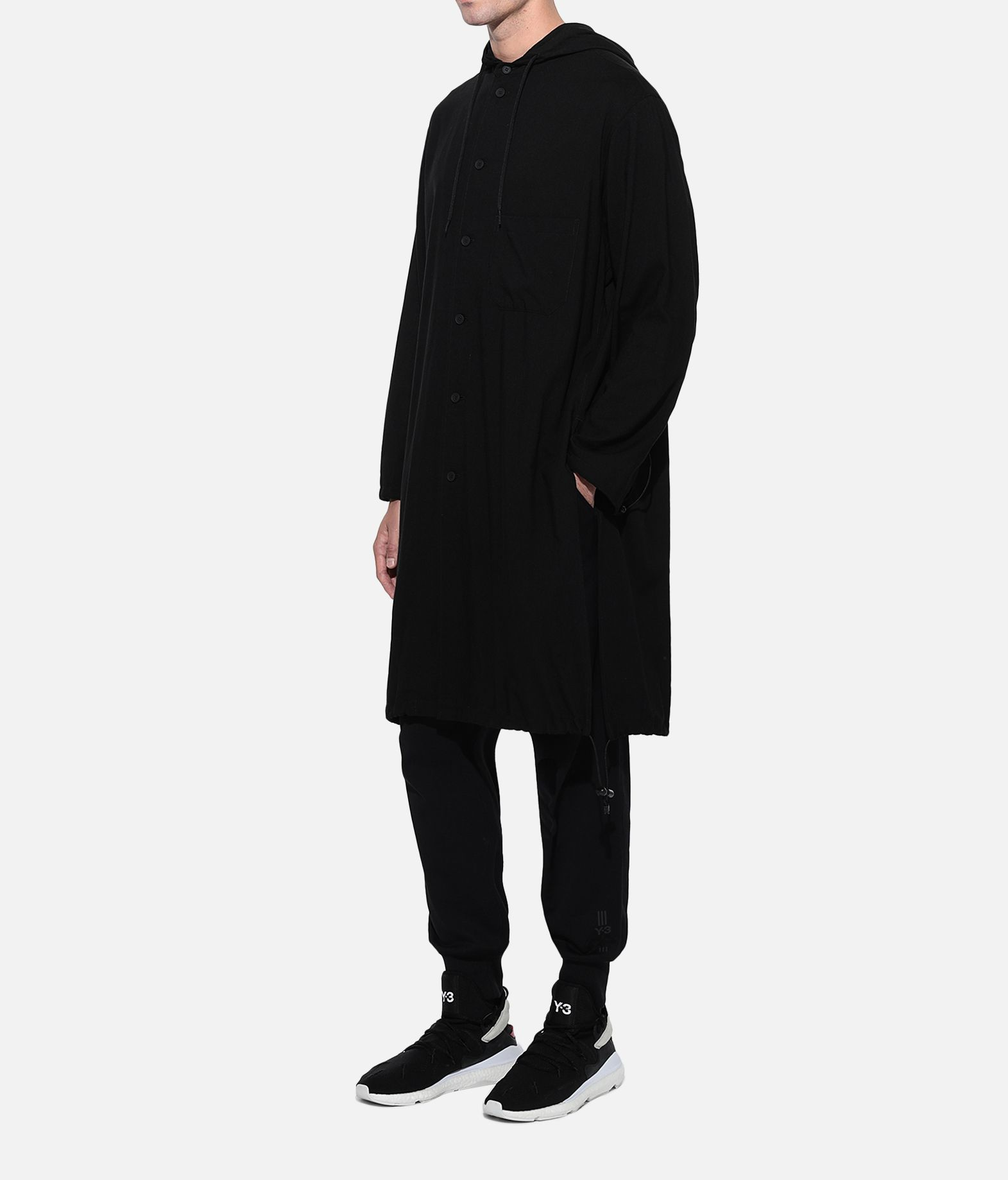 Y-3 Y-3 Hooded Long Shirt Long sleeve shirt Man e