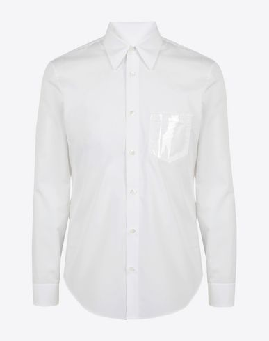 MAISON MARGIELA Long sleeve shirt Man Shine pocket poplin shirt f