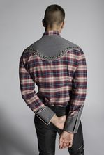 DSQUARED2 Check Cotton Fashion Western Shirt Long sleeve shirt Man