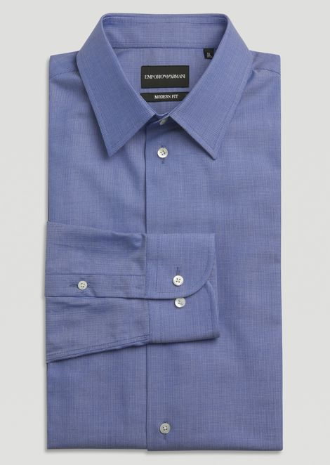Camicia modern fit in cotone Oxford