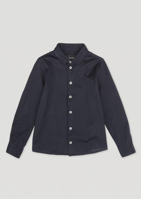 Camicia in popeline di cotone con bottoni a contrasto 50671831cd8