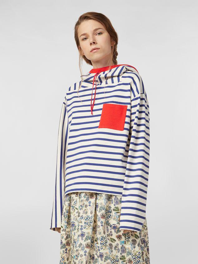 Marni Compact striped jersey sweater Woman - 1