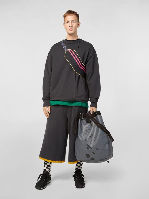 Marni Sweatshirt in compact cotton jersey with asymmetric bottom gray Man - 5