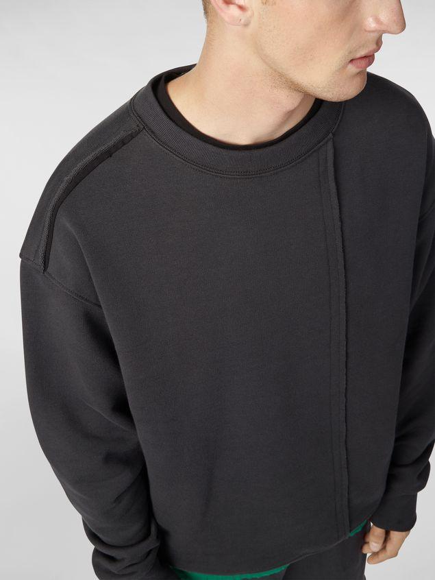 Marni Sweatshirt in compact cotton jersey with asymmetric bottom gray Man - 4