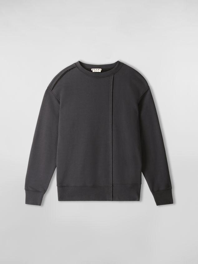 Marni Sweatshirt in compact cotton jersey with asymmetric bottom gray Man - 2