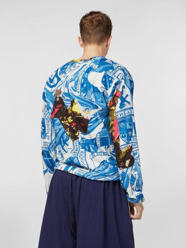 Marni Long-sleeved sweatshirt in cotton jersey Modular print Man
