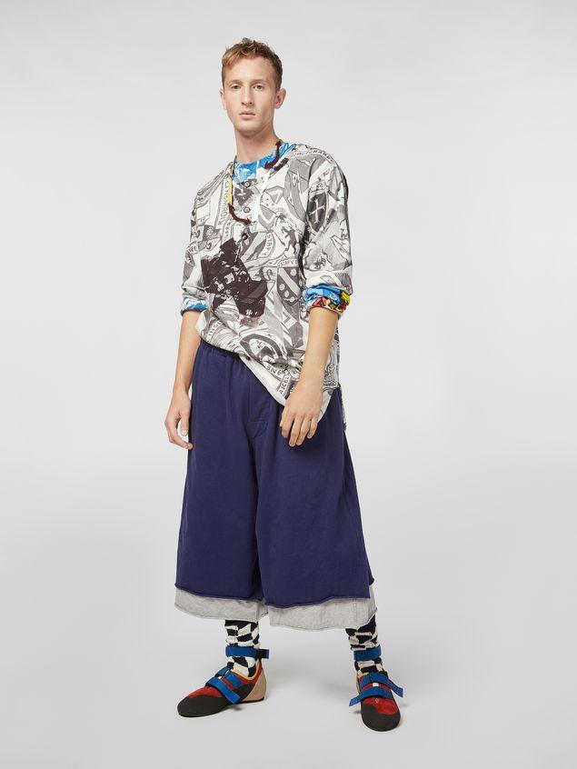 Marni Long-sleeved sweatshirt in cotton jersey Modular print Man - 5