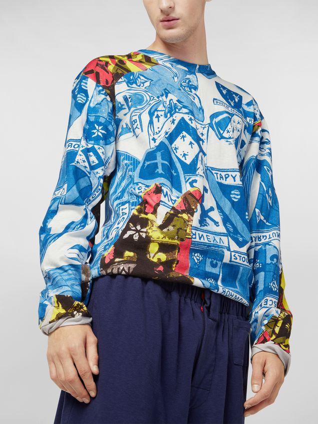Marni Long-sleeved sweatshirt in cotton jersey Modular print Man - 4
