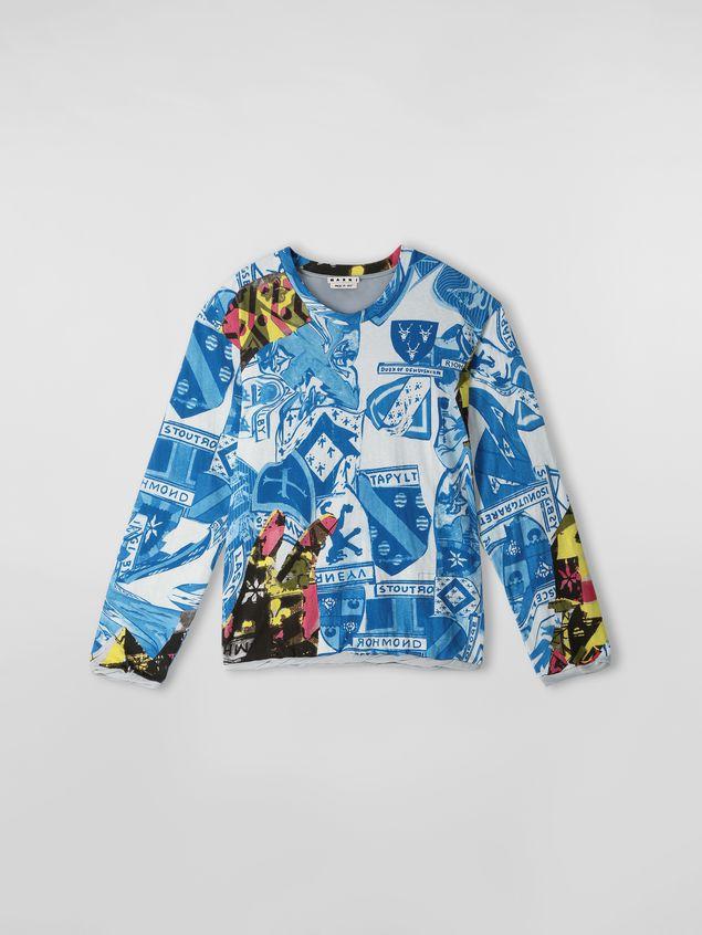 Marni Long-sleeved sweatshirt in cotton jersey Modular print Man - 2