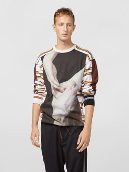 Marni Sweatshirt in compact cotton jersey with print by Florian Hetz Man