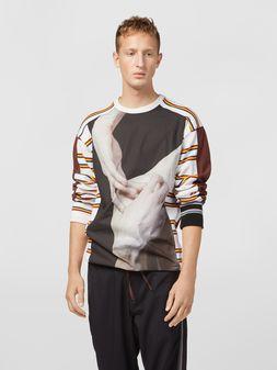 Marni Felpa in jersey di cotone compatto stampa artista Florian Hetz Uomo