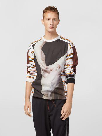Marni コンパクトコットンジャージー スウェットシャツ Florian Hetzプリント メンズ
