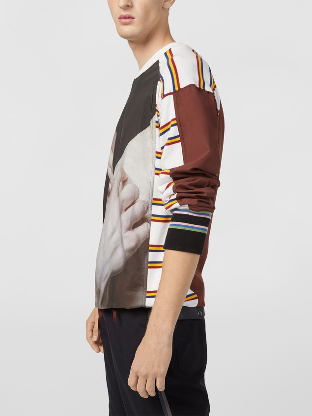 Marni Sweatshirt in compact cotton jersey with print by Florian Hetz Man - 4