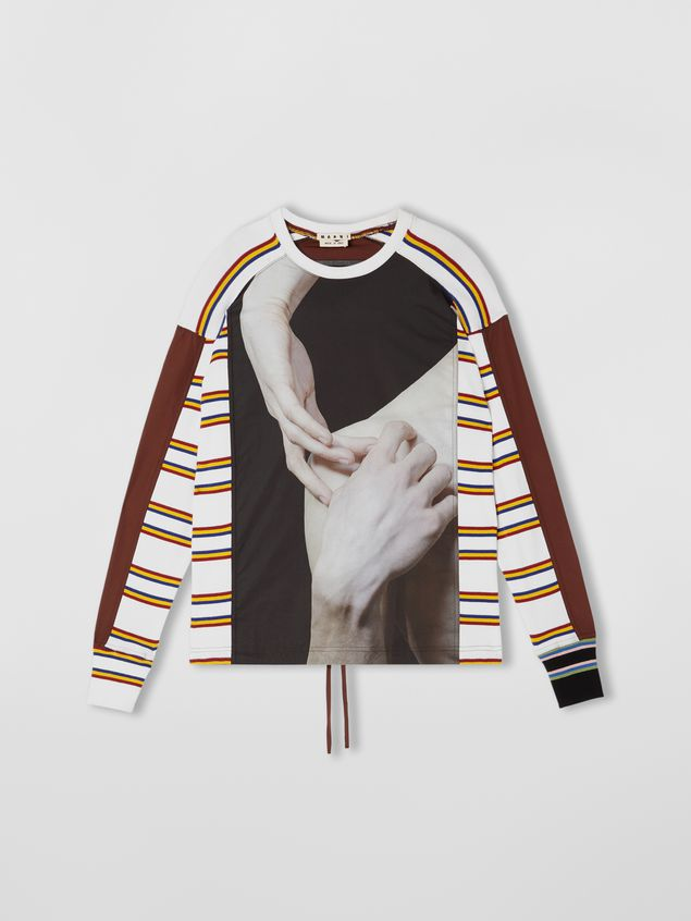 Marni Sweatshirt in compact cotton jersey with print by Florian Hetz Man - 2
