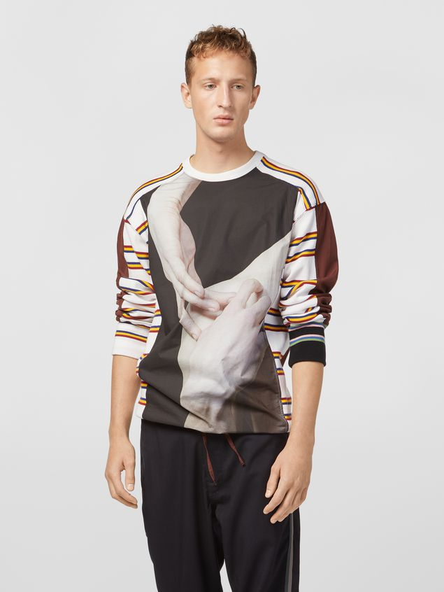 Marni Sweatshirt in compact cotton jersey with print by Florian Hetz Man - 1