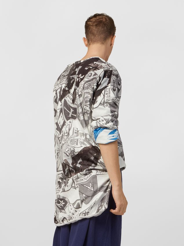 Marni Short-sleeved sweatshirt in cotton jersey Modular print Man
