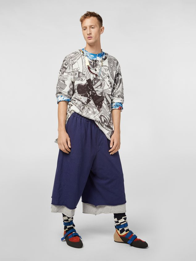 Marni Short-sleeved sweatshirt in cotton jersey Modular print Man - 5