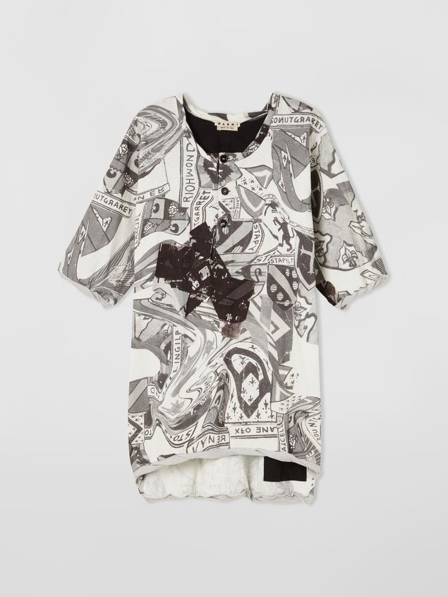 Marni Short-sleeved sweatshirt in cotton jersey Modular print Man - 2