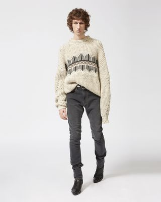 ISABEL MARANT LONG SLEEVE JUMPER Man DEASON jumper r