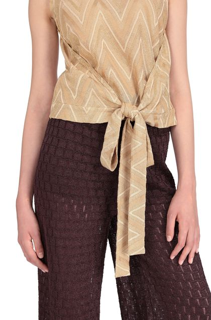 M MISSONI Top Gold Woman - Front
