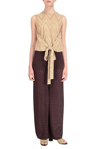 M MISSONI Top Gold Woman - Back