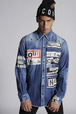 DSQUARED2 Military Denim Shirt Shirt Man