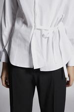 DSQUARED2 Stretch Cotton Twill Wrap Shirt Shirt Woman