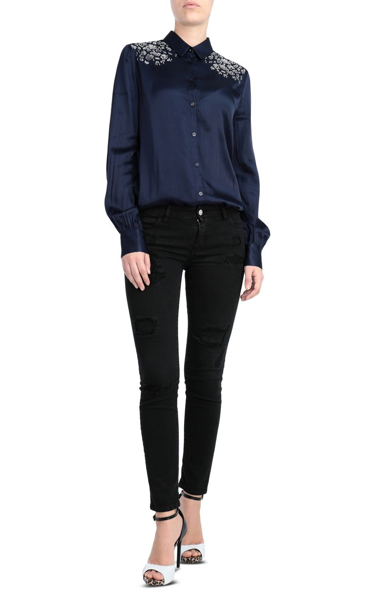 JUST CAVALLI Shirt with stud details Long sleeve shirt Woman d