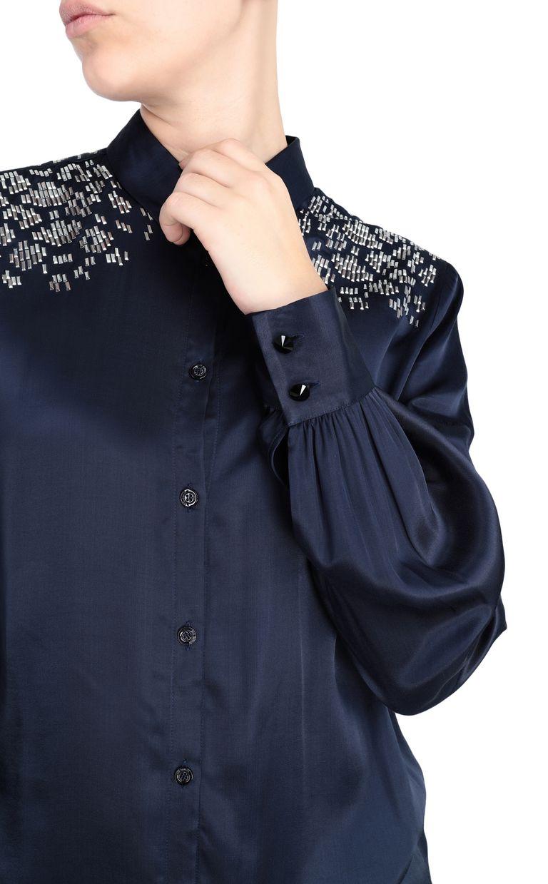 JUST CAVALLI Shirt with stud details Long sleeve shirt Woman e