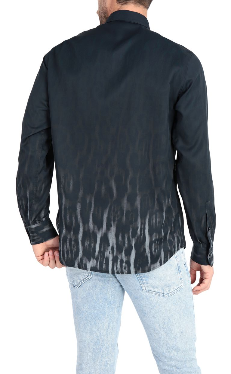 JUST CAVALLI Shirt with nuanced leopard print Long sleeve shirt Man r