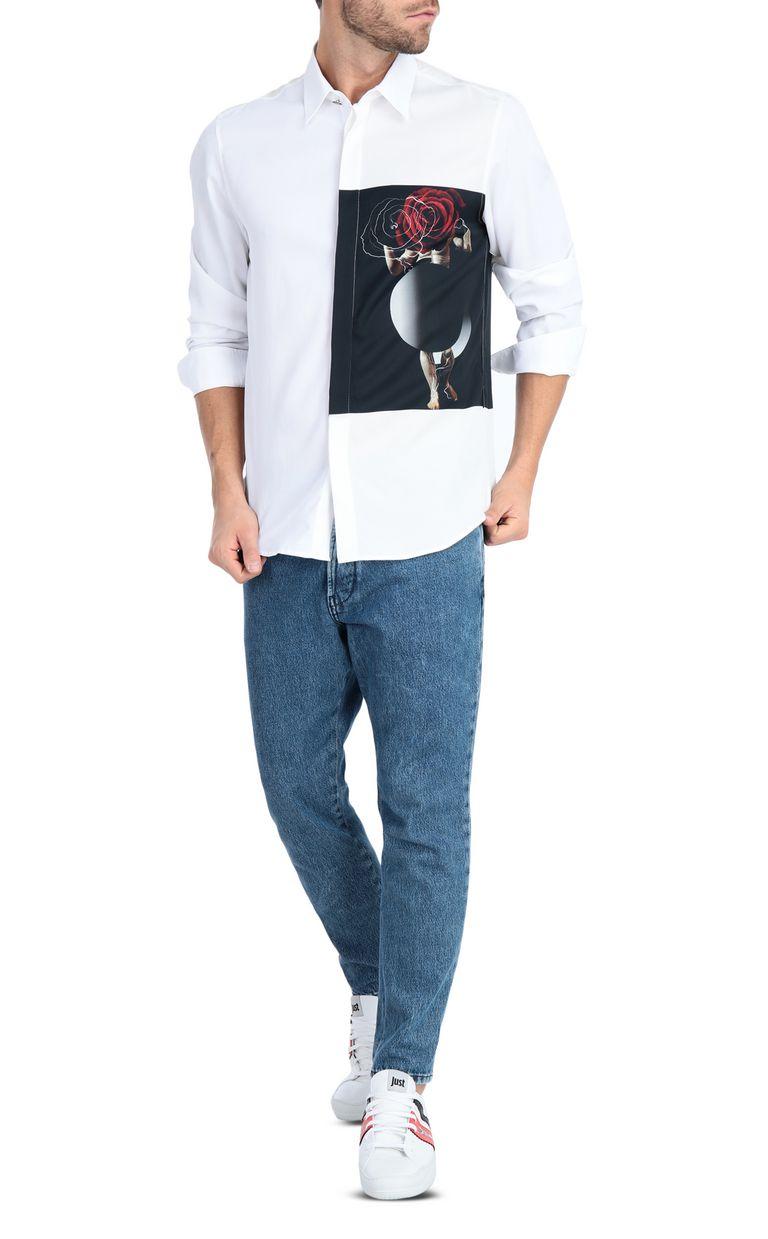 JUST CAVALLI Sculpture-print shirt Long sleeve shirt Man d