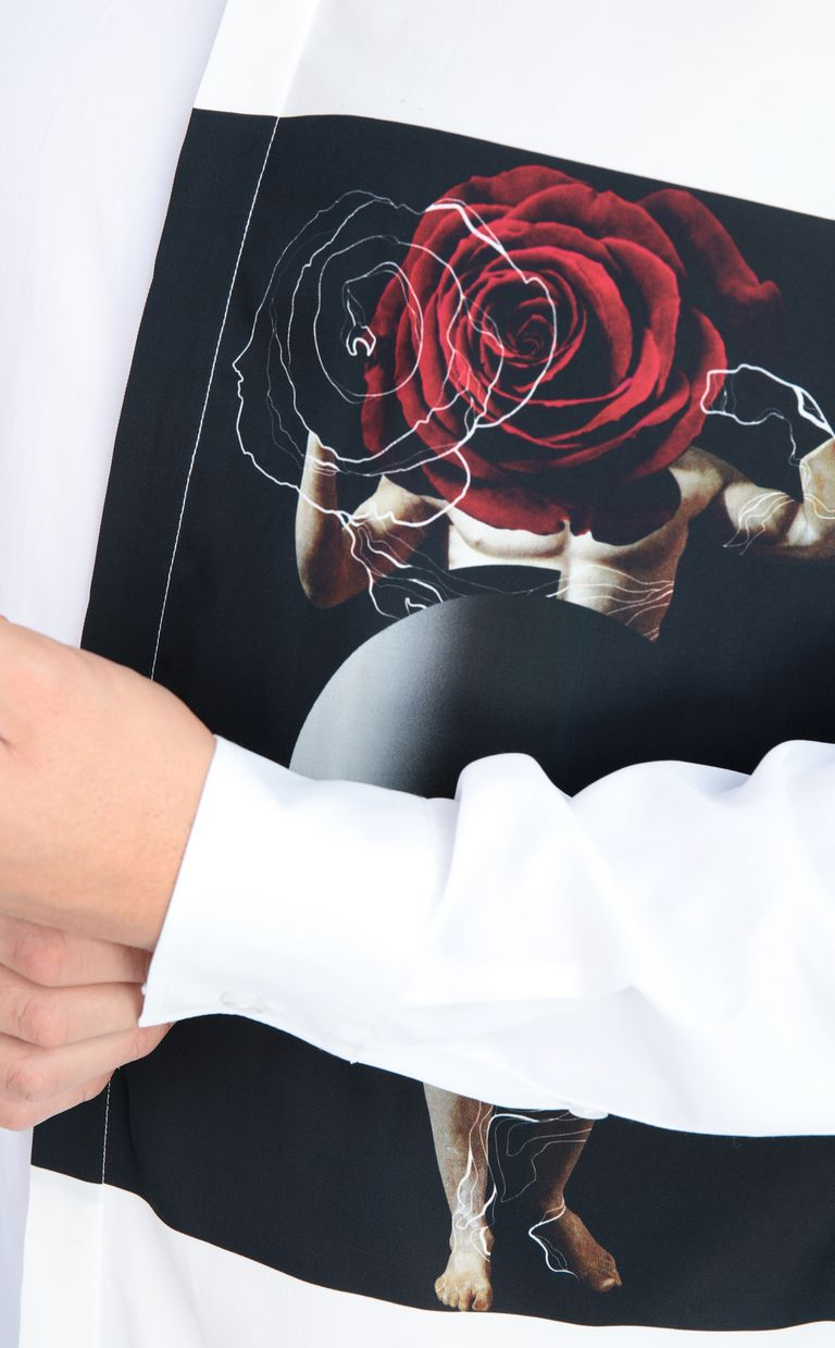 JUST CAVALLI Sculpture-print shirt Long sleeve shirt Man e