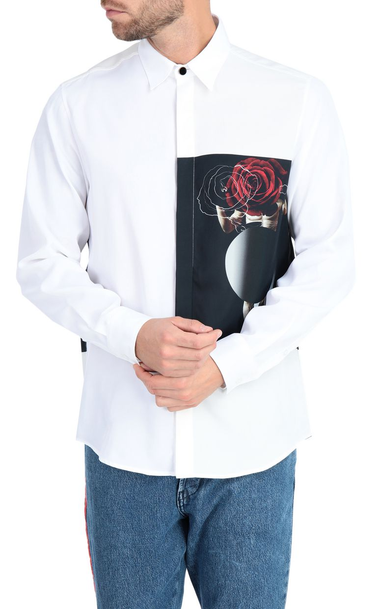 JUST CAVALLI Sculpture-print shirt Long sleeve shirt Man f