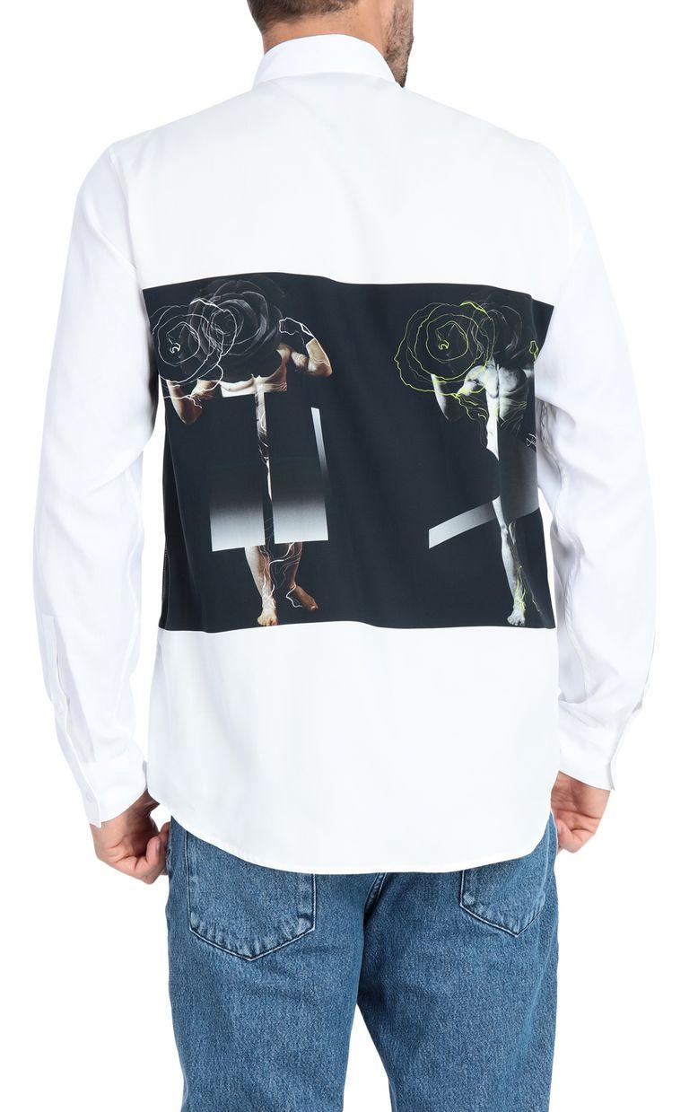 JUST CAVALLI Sculpture-print shirt Long sleeve shirt Man r