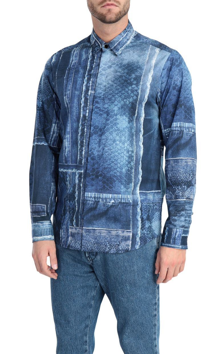 JUST CAVALLI Denimflage shirt Long sleeve shirt [*** pickupInStoreShippingNotGuaranteed_info ***] f