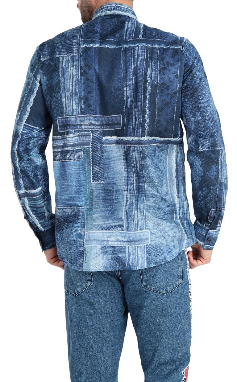 JUST CAVALLI Denimflage shirt Long sleeve shirt [*** pickupInStoreShippingNotGuaranteed_info ***] r
