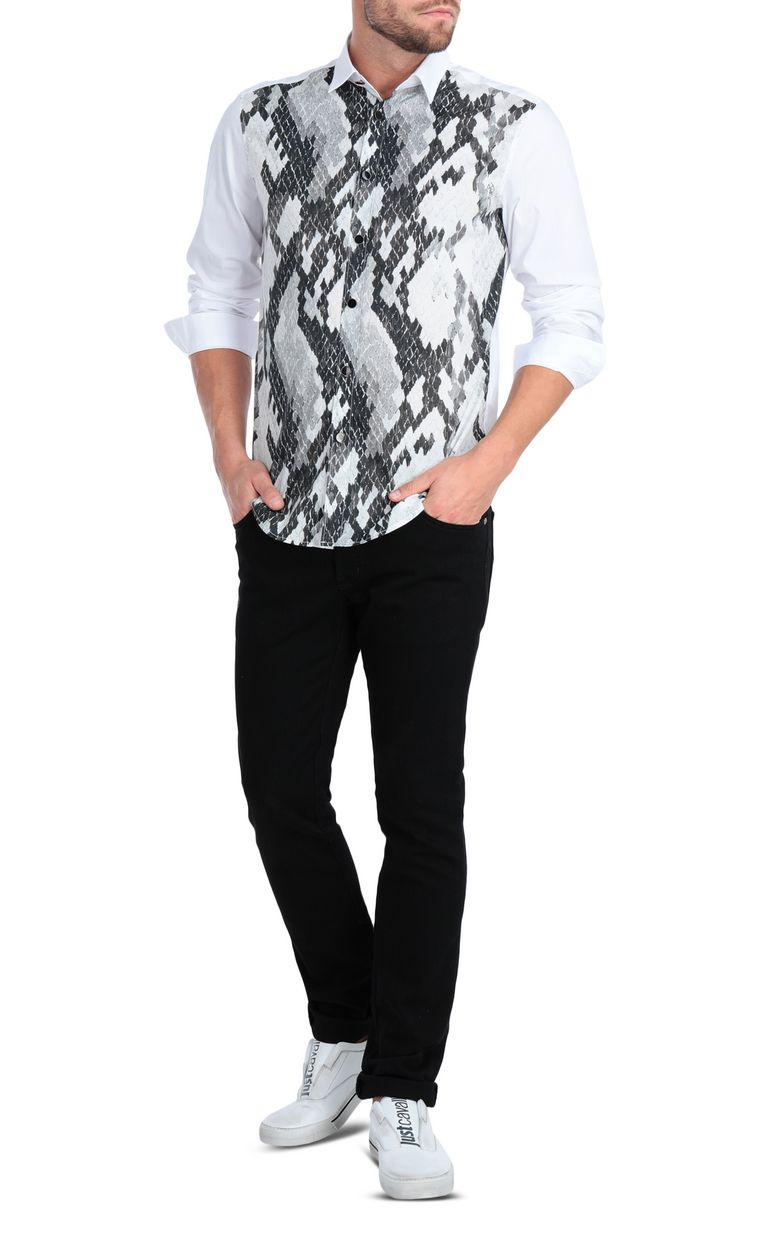 JUST CAVALLI Python-print shirt Long sleeve shirt [*** pickupInStoreShippingNotGuaranteed_info ***] d