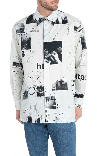 Oversized storyboard-print shirt